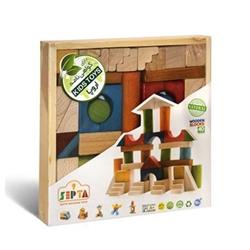 بریکس چوبی 40 قطعه جعبه ای چوبی سپتا